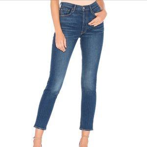 GRLFRND Karolina Button Jeans midrise